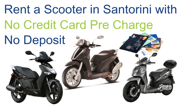 rent a scooter in santorini